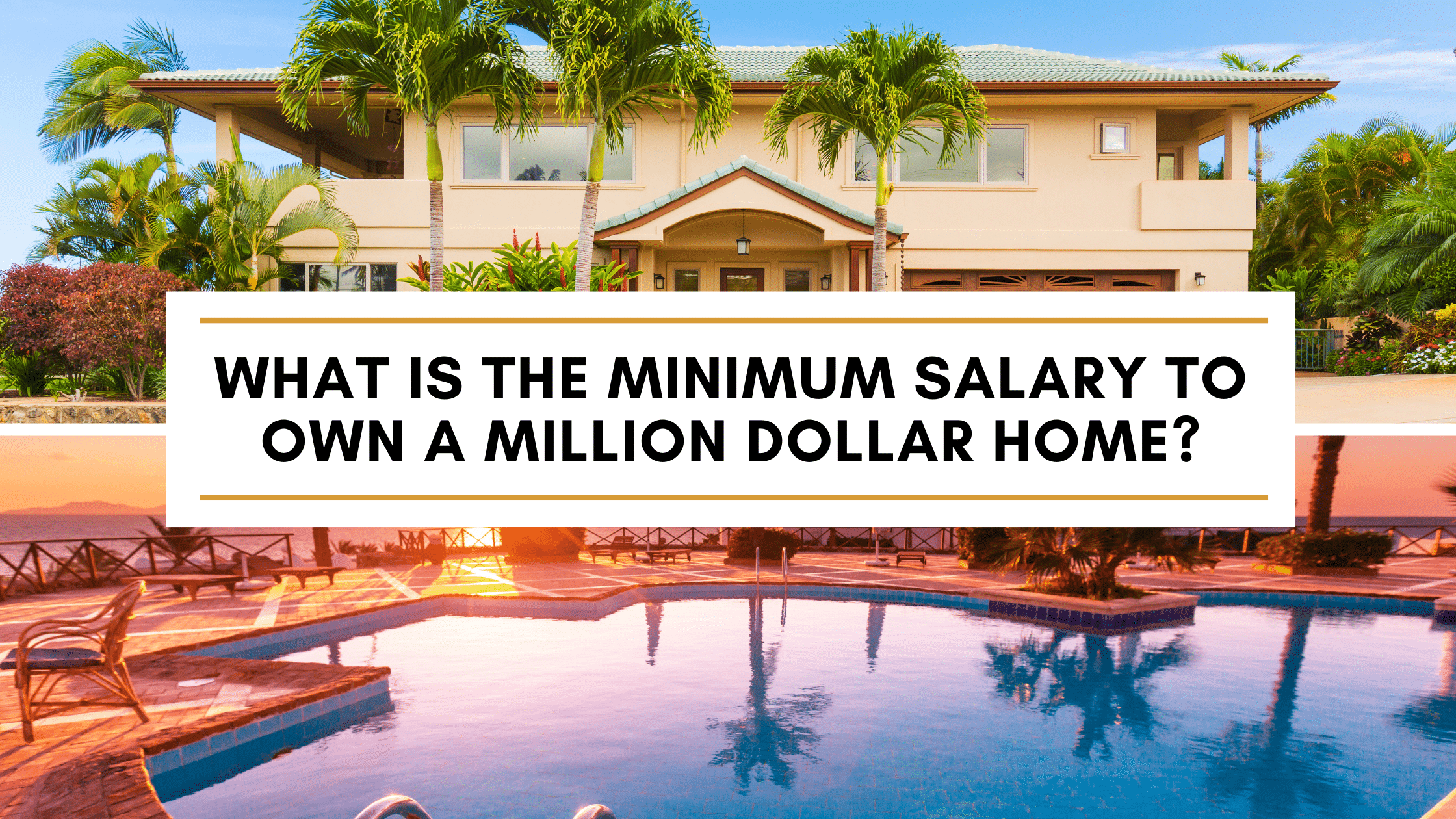 how to afford a million dollar home